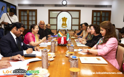 The Mexican Parliamentary Delegation calls on Lok Sabha Speaker