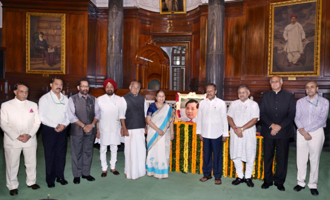 Floral Tributes to the former Speaker of Lok Sabha, Shri P.A. Sangma By Ministers
